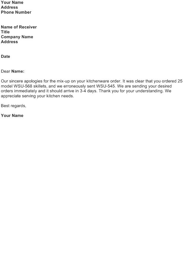 Apologize for a Shipping Delay or Error