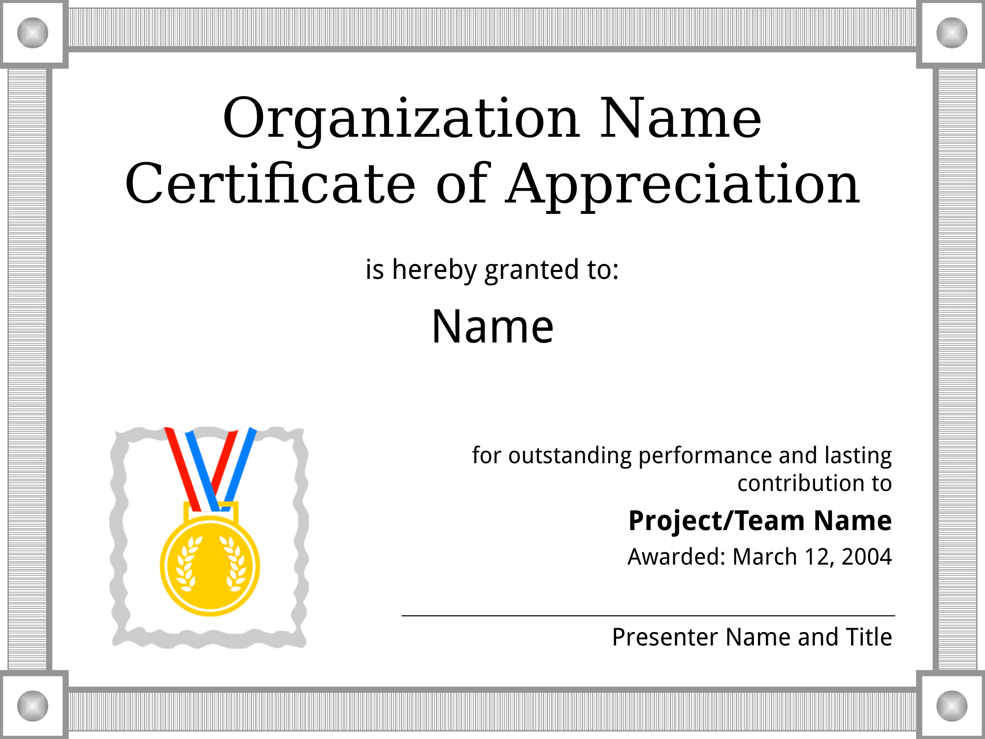 Certificate of appreciation sample template get a free download certificate of appreciation sample template get a free download yadclub Choice Image