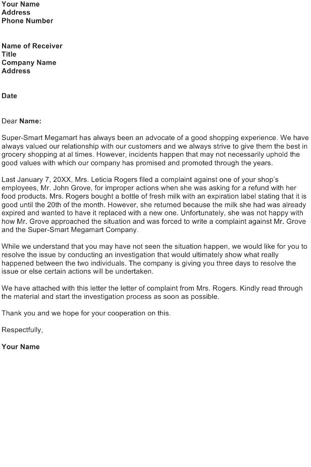 Customer Complaint Follow-Up Letter