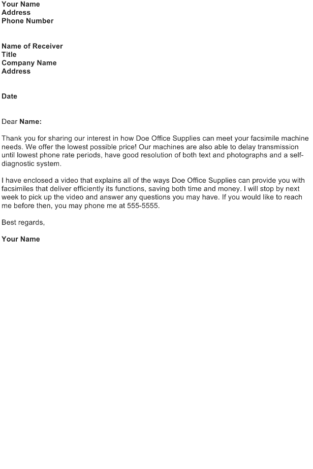 followup letter template