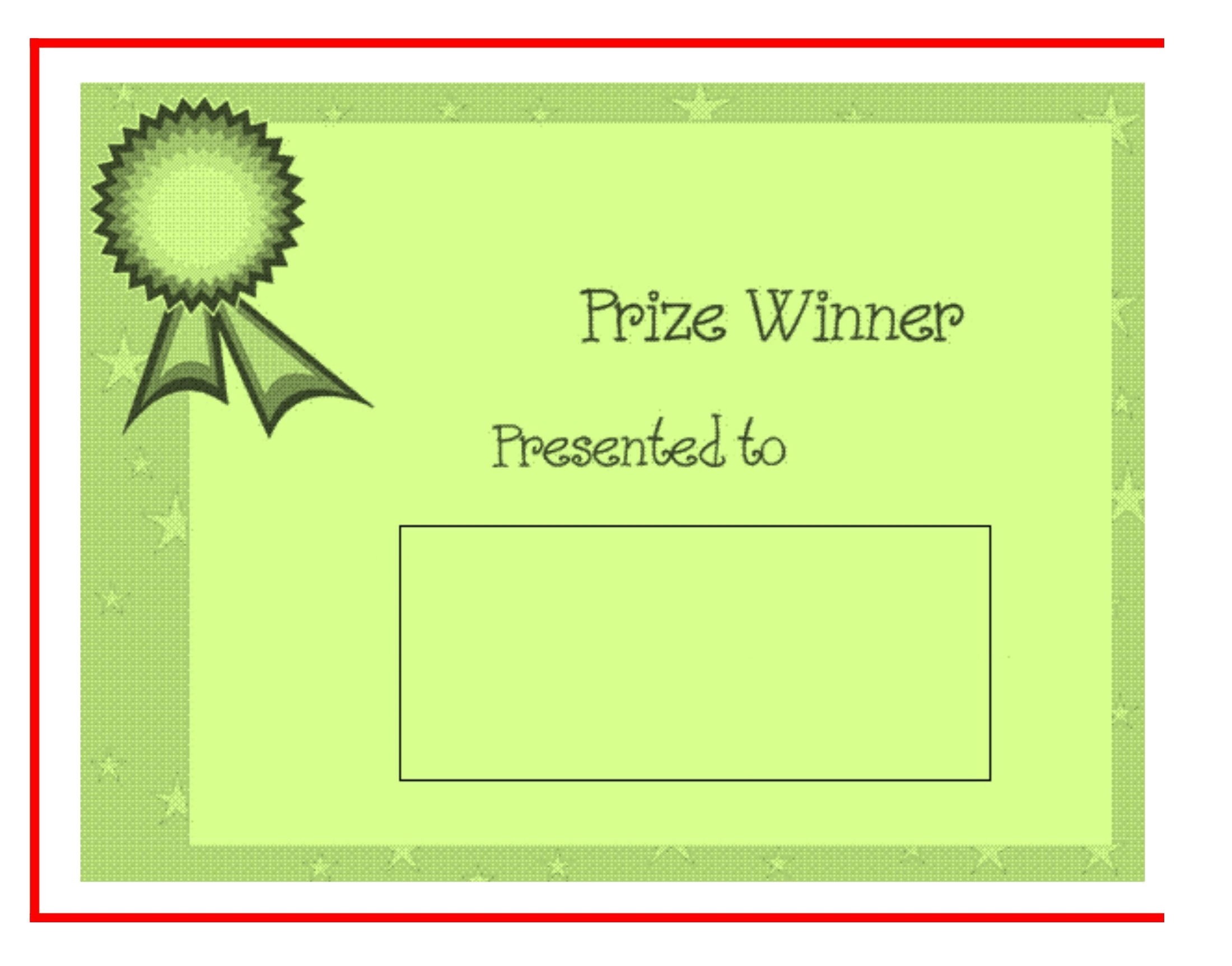 Winner Certificate Template Word
