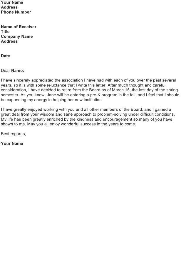 Write a Farewell Letter to Co-Workers