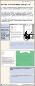 Infographic Writing Guide - Accounts Receivable Letter Template and Sample Business Letter