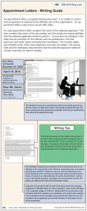Infographic Writing Guide - Appointment Letter Template and Sample Business Letter