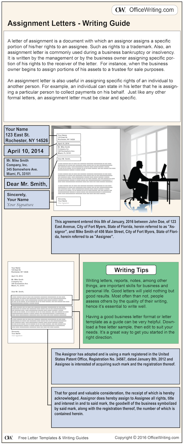 Infographic Writing Guide - Assignment Letter Template and Sample Business Letter