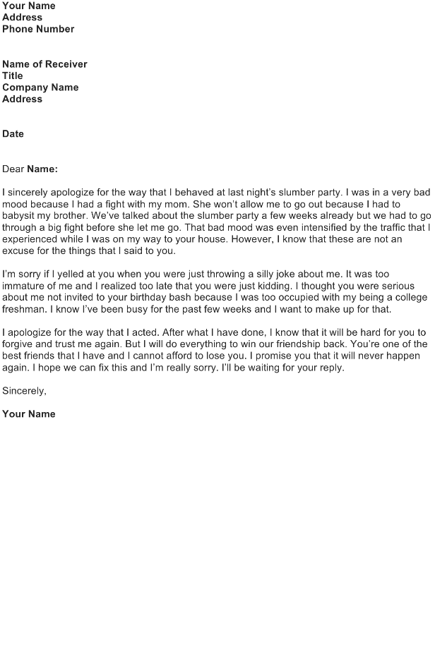 apology letter for hurt feelings samples apology letter for hurt feelings world of example 25038 | an apology letter for hurt feelings