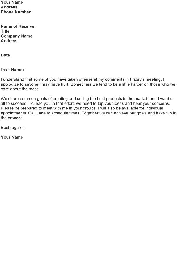 Apologize to Employees