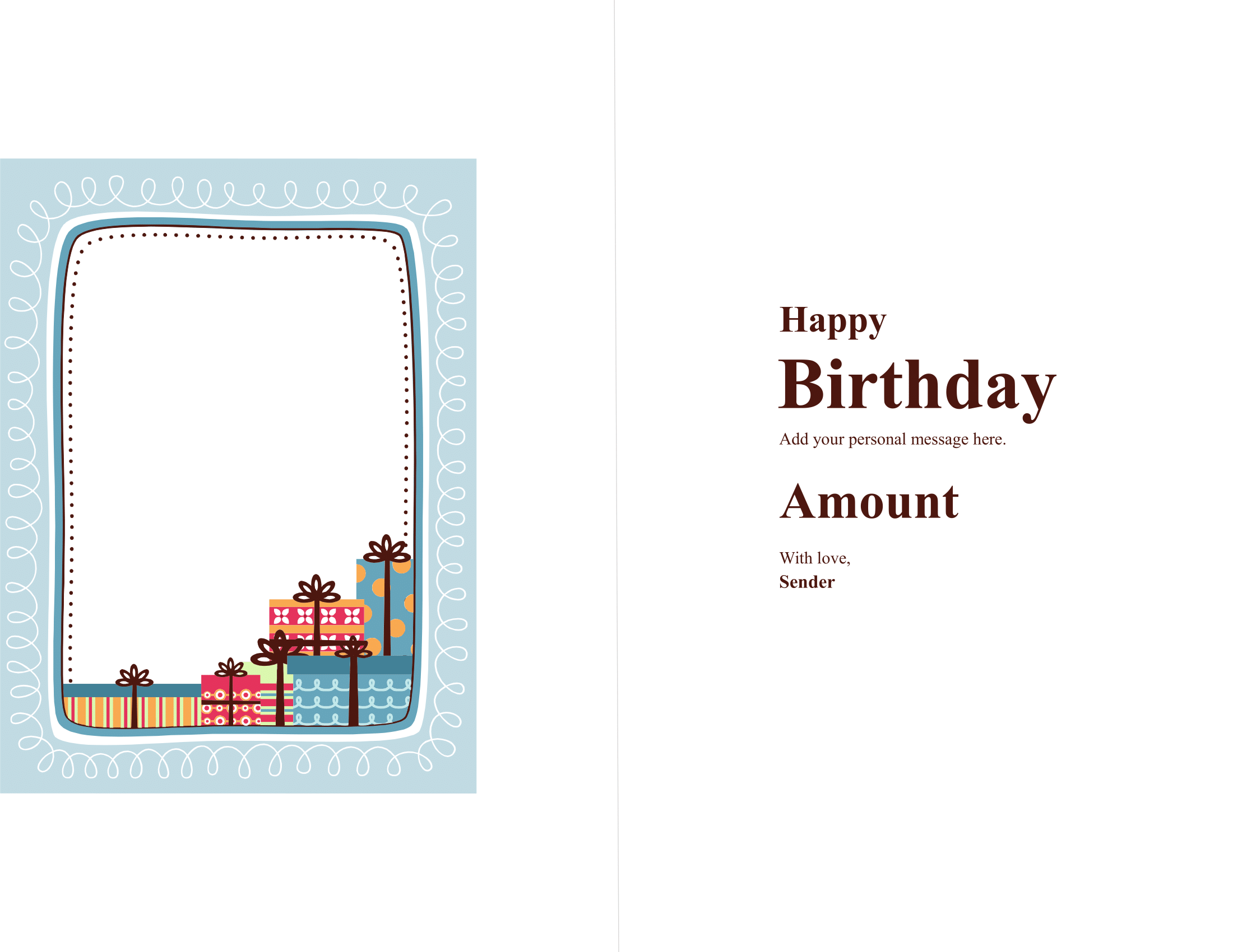 Birthday Gift Card Certificate – FREE Download Template