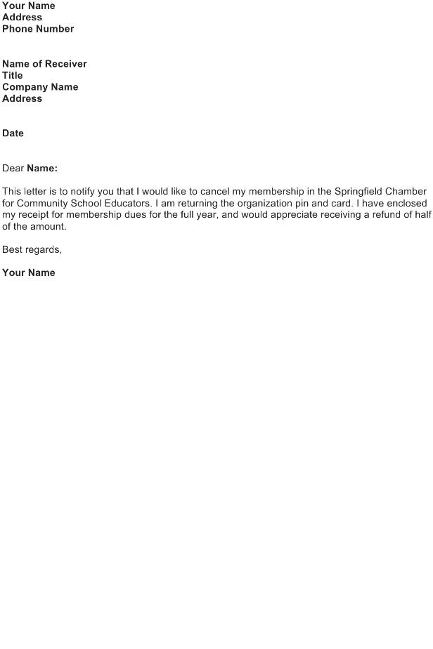 Cancel a Membership on an Organization