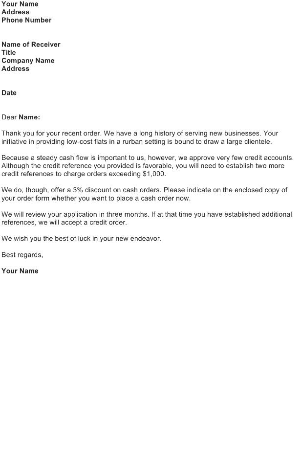 Cancel a Customer's Credit Account