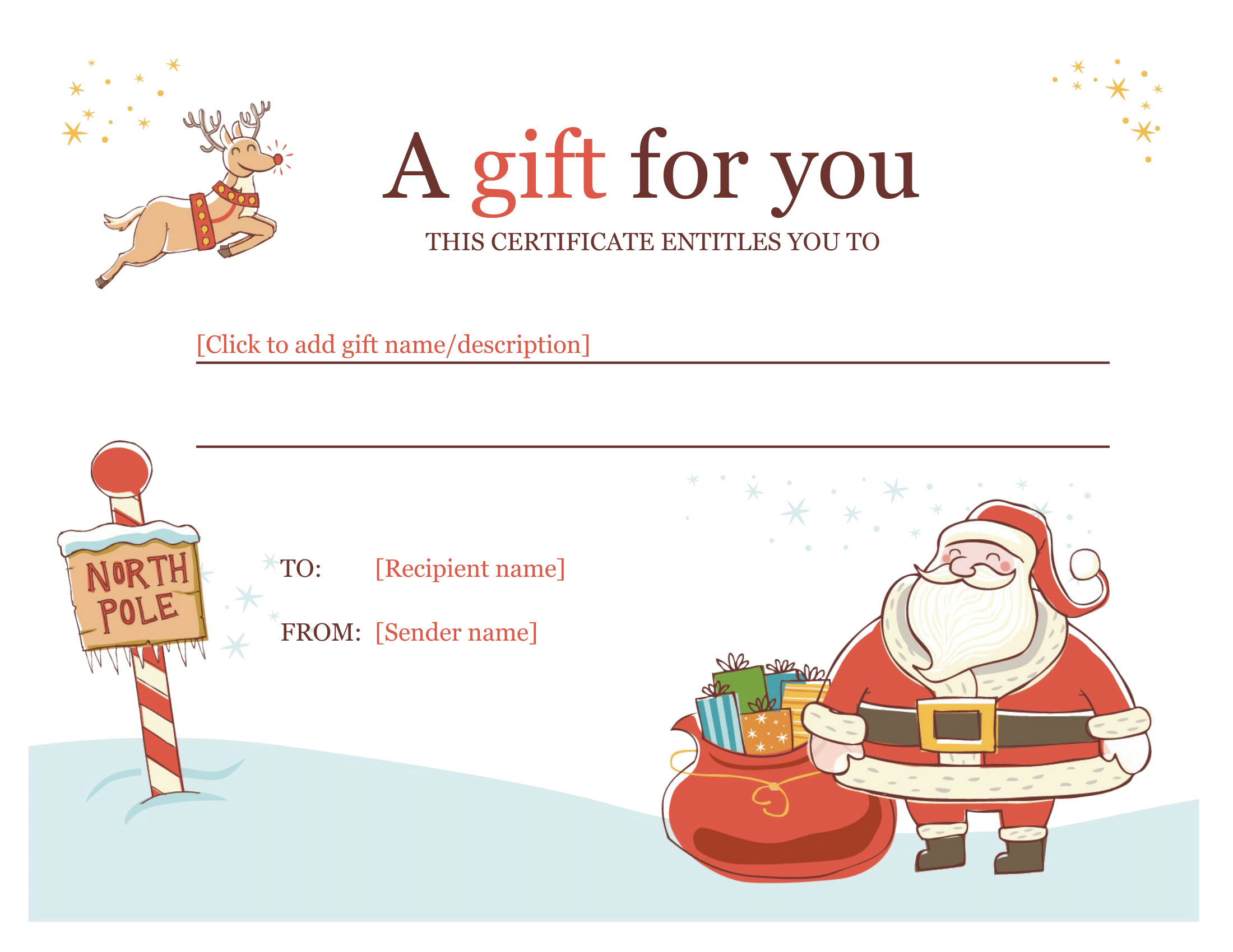 christmas gift certificate download a free personalized template