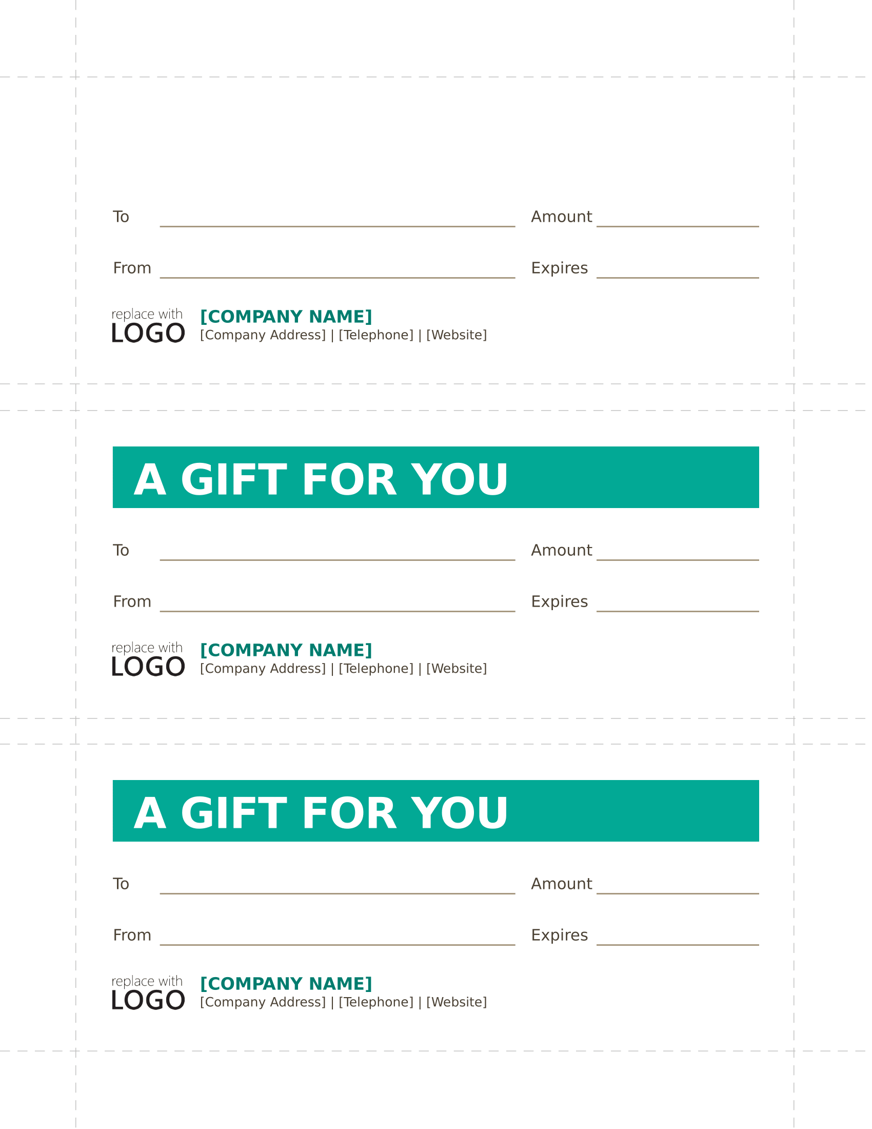 company gift certificate forms free download template
