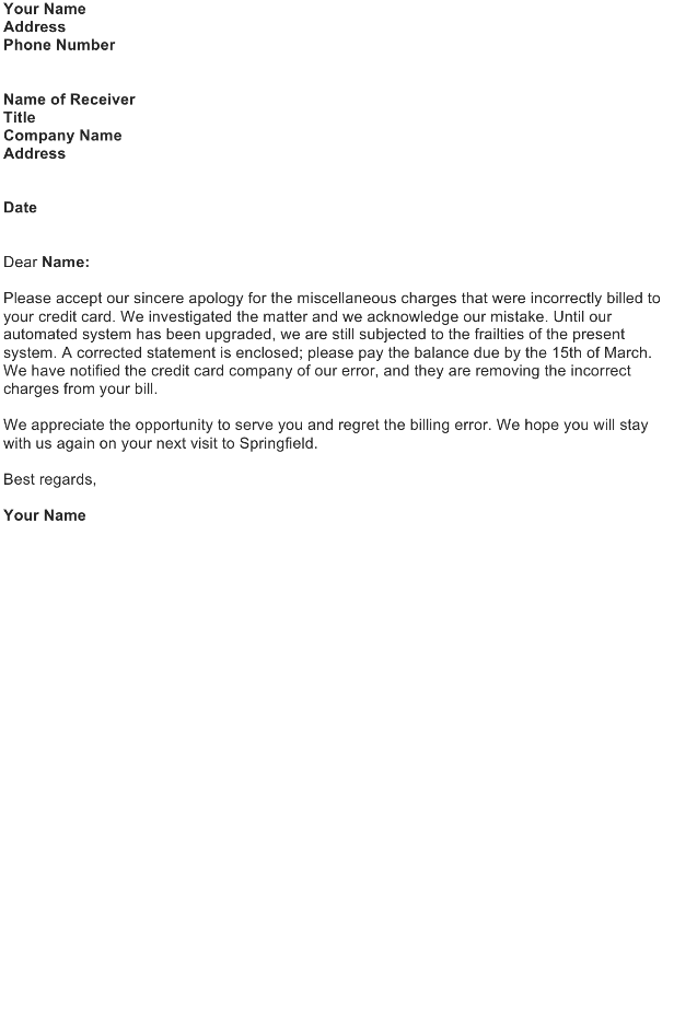 Correction letter sample download free business letter templates correct you own error in a transaction spiritdancerdesigns Image collections