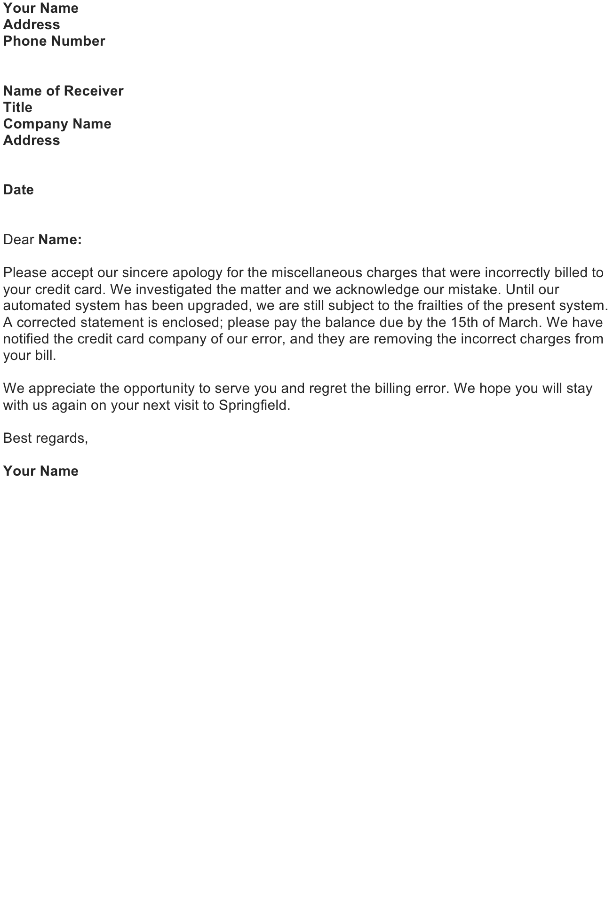 Explanation letter sample download free business letter templates explain an error you have made expocarfo