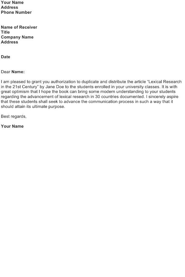Grant Permission to Publish Material