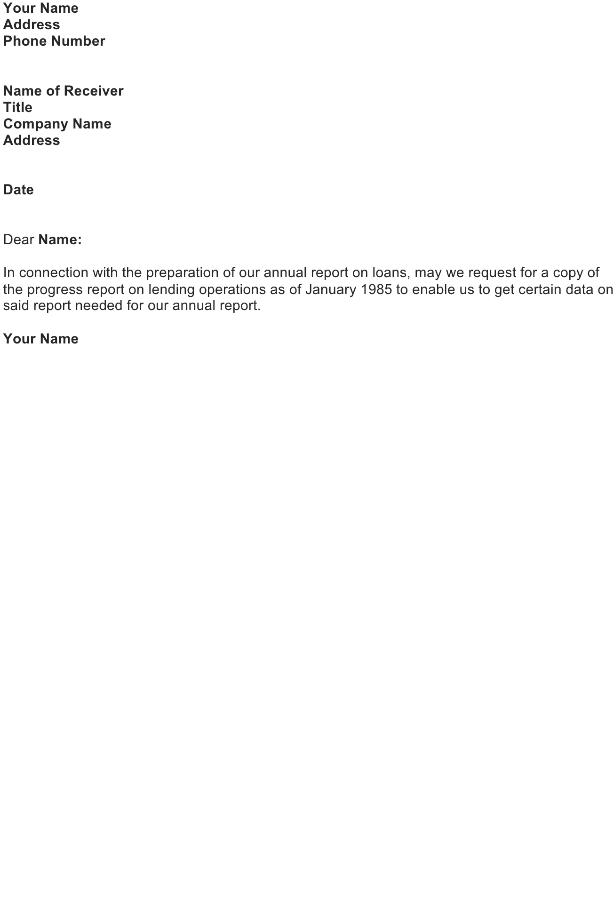 Memorandum – Request of Progress Report