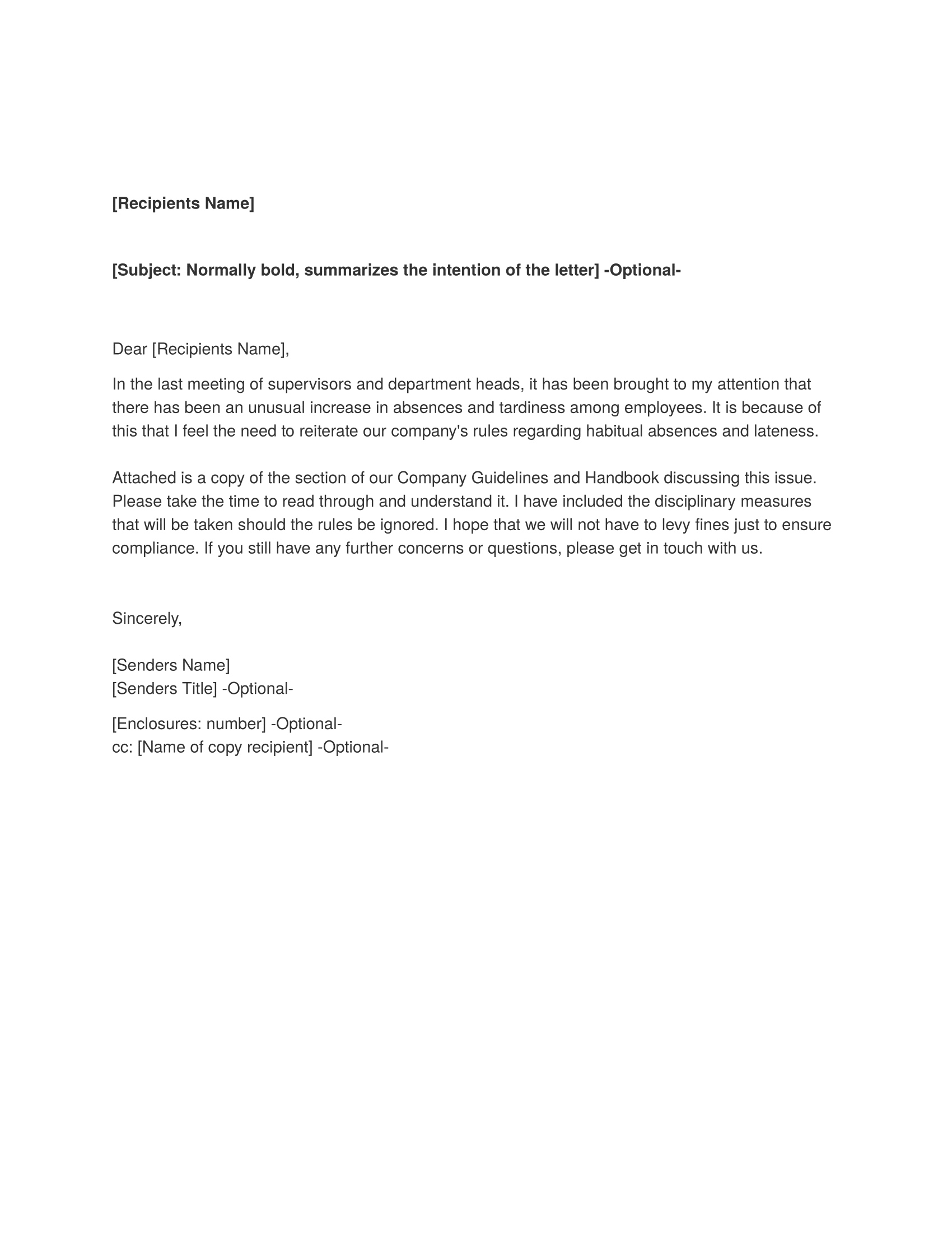 Memorandum - Download FREE Business Letter Templates, Forms, Menus ...
