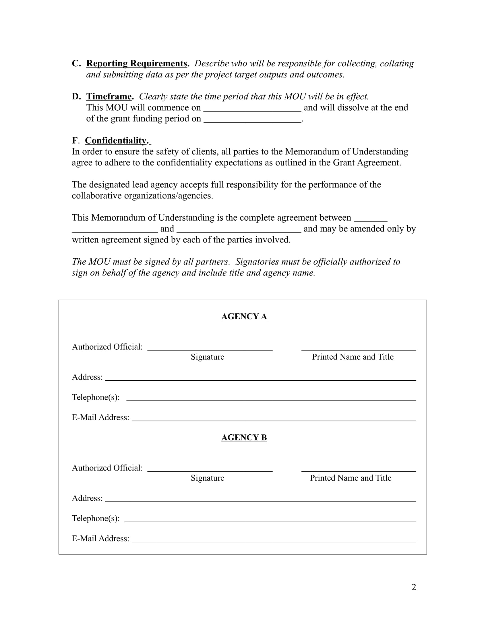 Memorandum download free business letter templates forms menus memorandum of understanding wajeb Images