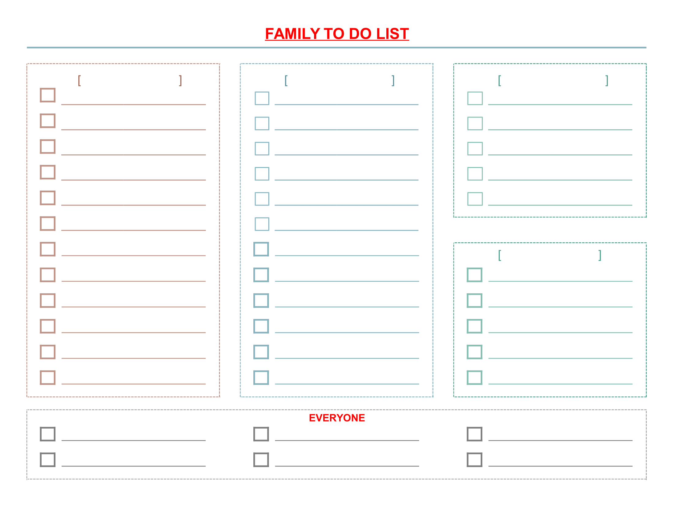 to do list forms free