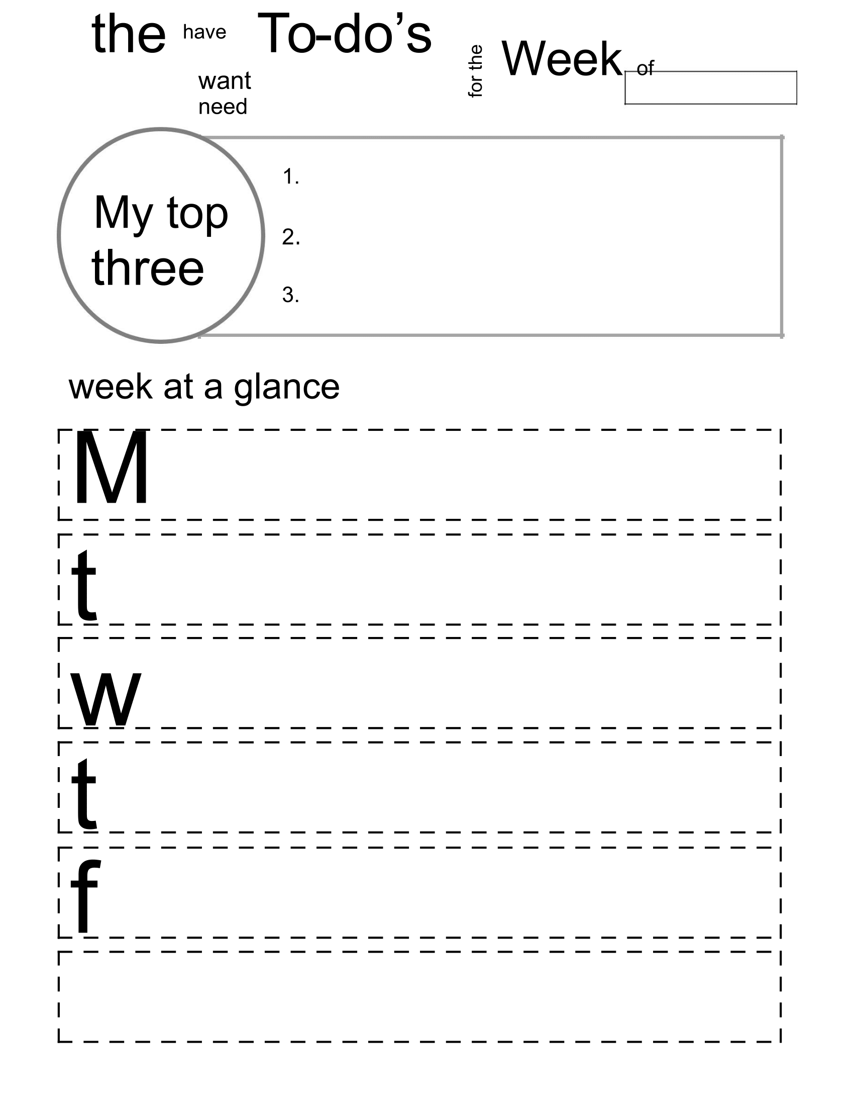 printable weekly to do list download free form