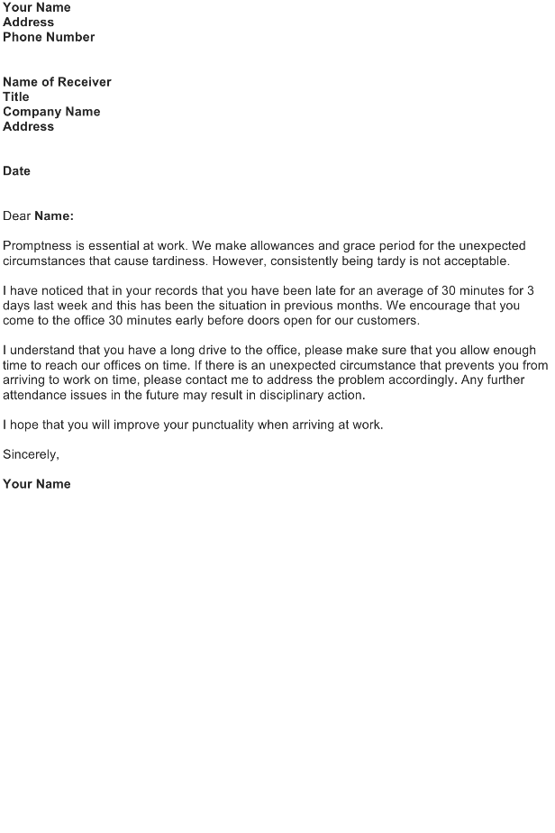 Reprimand letter sample download free business letter templates reprimand letter for absenteeism tardiness spiritdancerdesigns Gallery