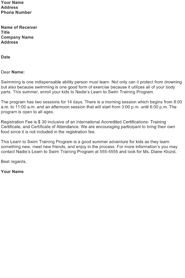 Sales Letter Template Download Free Business Letter Templates