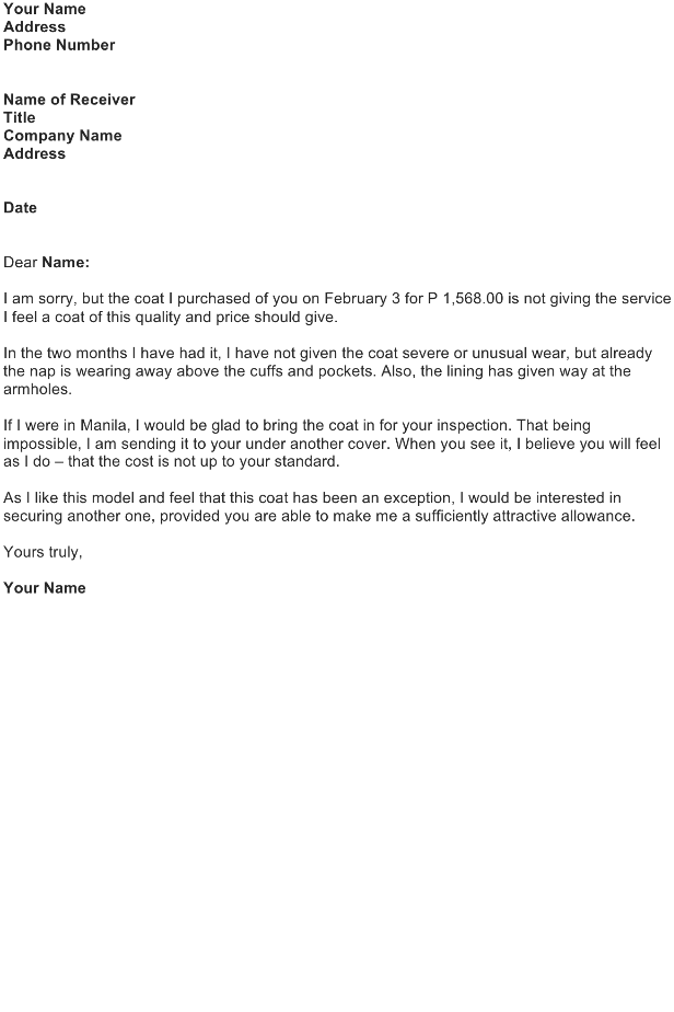 Complaint Letter About Coworker from officewriting.com