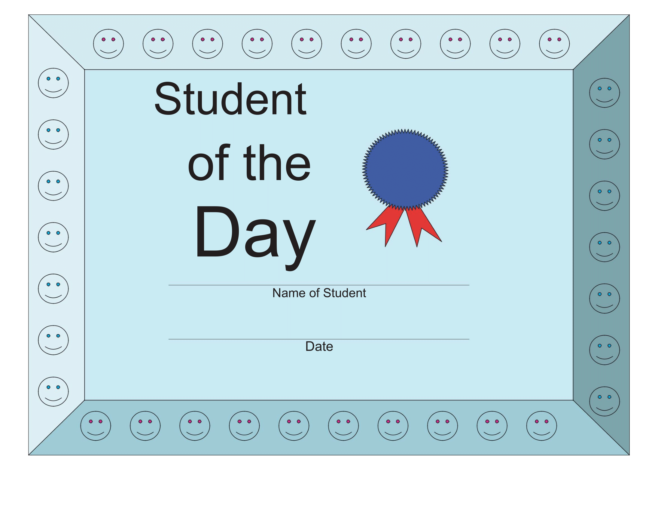 Student of the Day Certificate – FREE Download
