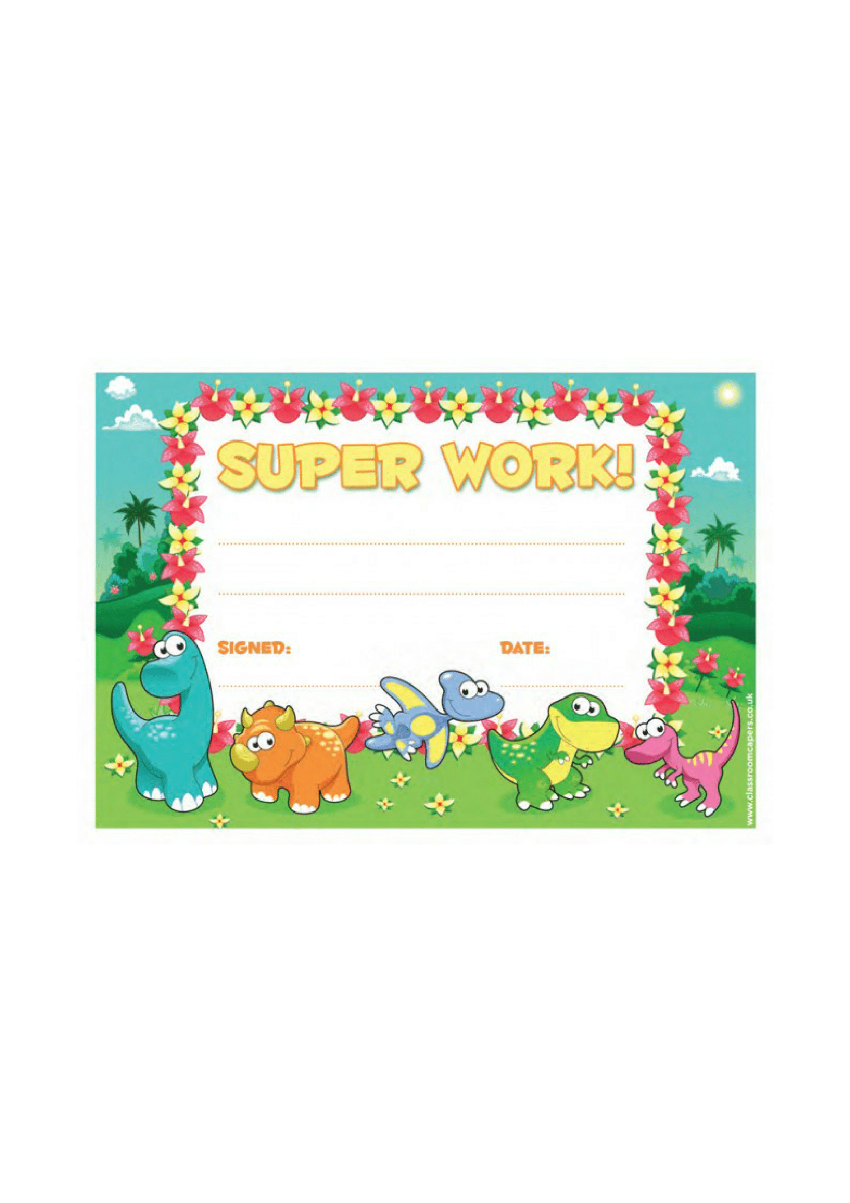Student Super Work Certificate – FREE Download